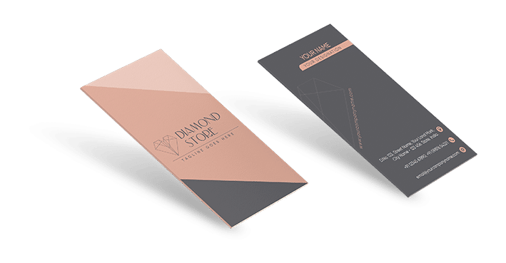 Vertical Business Cards Printing -Visiting Cards Printing - Double Sided